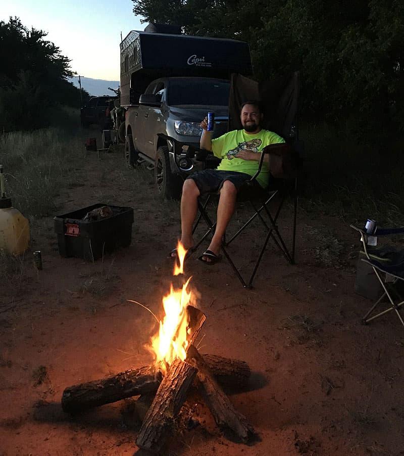 Capri Maverick campfire