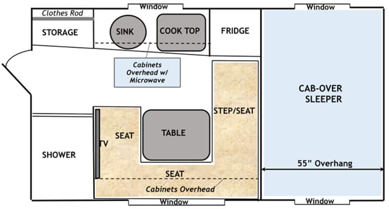 Capri Camper Review Retreat Floorplan