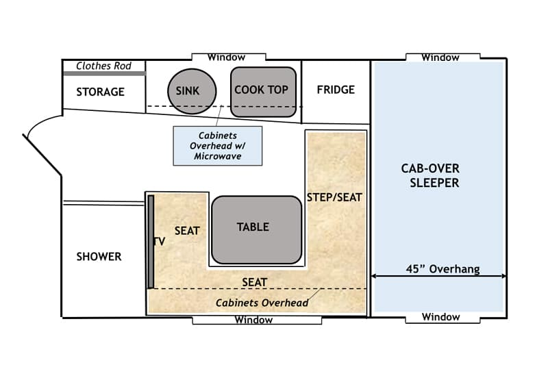 Capri camper new owners new vision for Capri floor plan