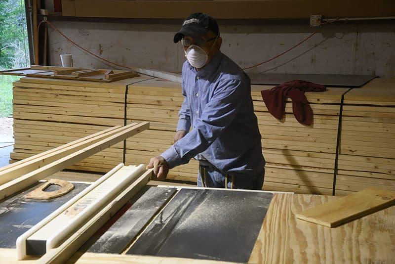 Capri Factory Cutting Wood