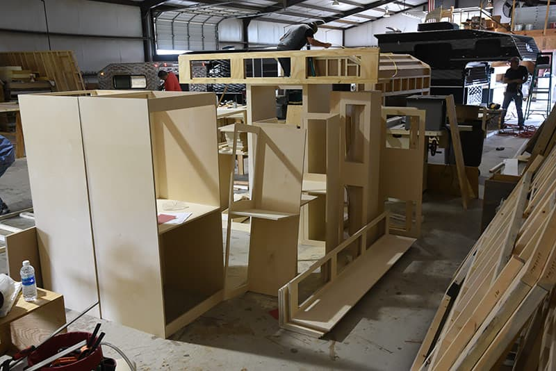 Capri Campers Outsourced Cabinetry