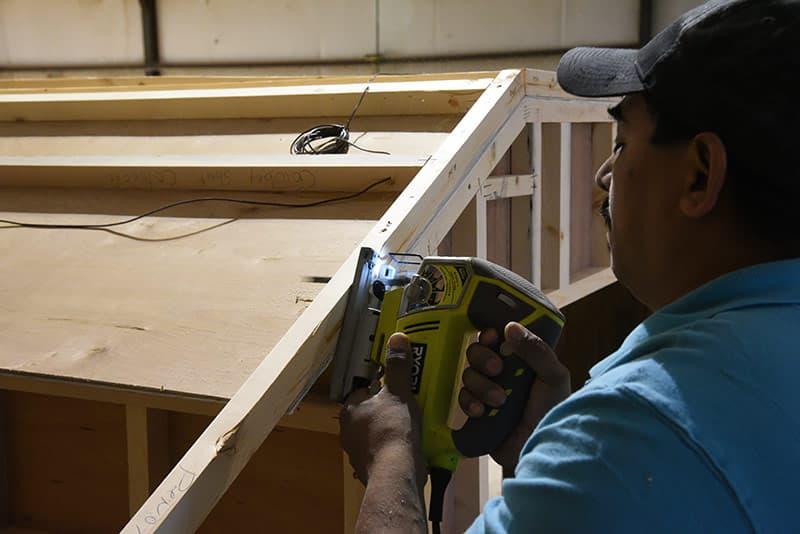Capri Cowboy Roof Installation hand jig saw