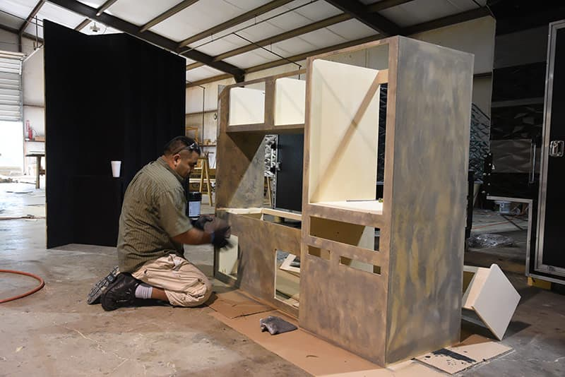 Staining Cabinetry at Capri Campers