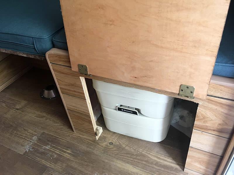 Capri Camper Toilet Under Seat