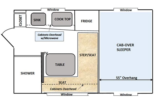 Capri camper buyers guide for Capri floor plan