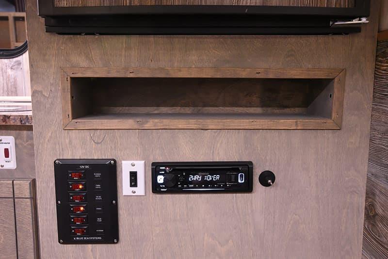 Capri Camper kitchen charging nook