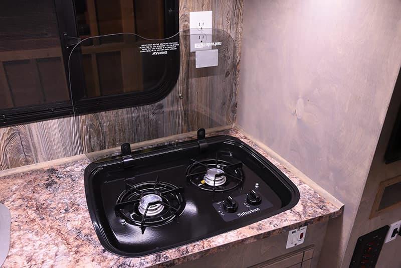 Capri Retreat kitchen cooktop camper