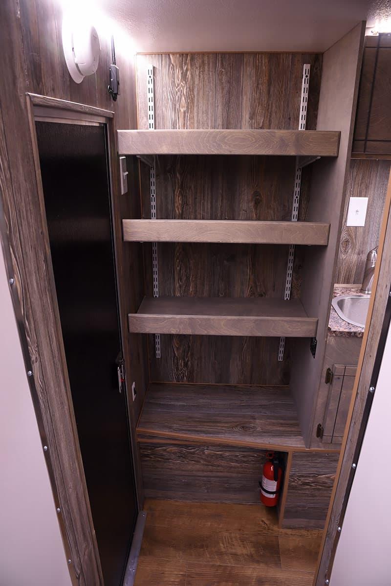 Capri Camper adjustable shelves