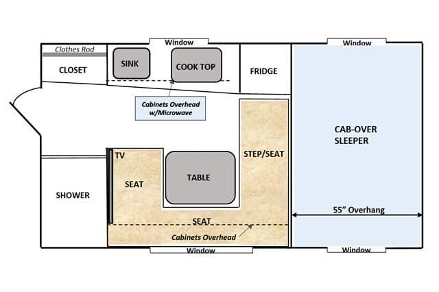 Capri camper buyers guide for Capri floor plan
