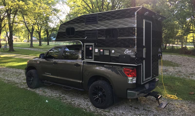 Camping in Indiana with a Capri Maverick camper