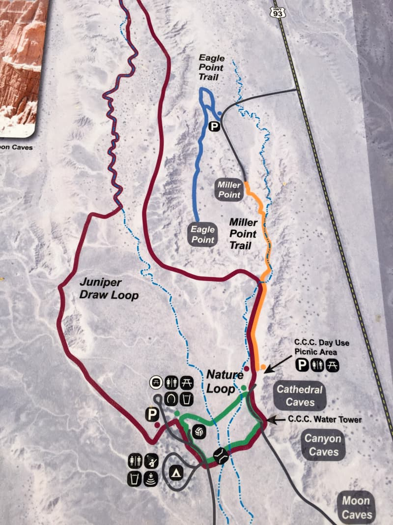 Cathedral Gorge Map