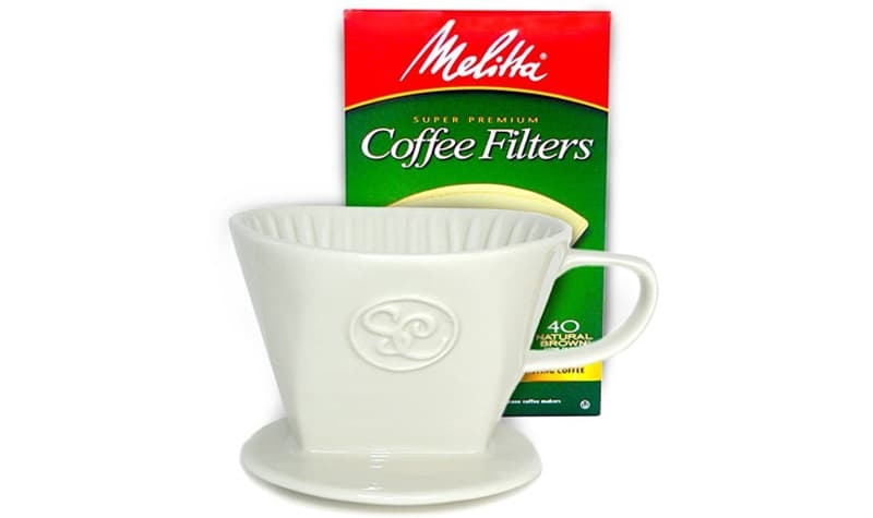 Ceramic Melita Pour Over Coffee Brewer