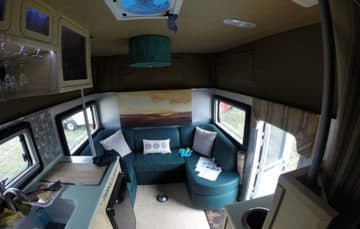 Chassis mount camper inside
