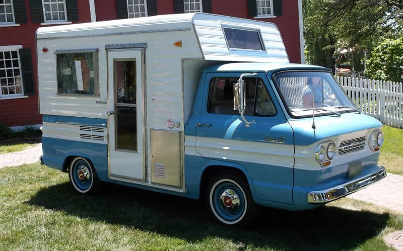 Chevy Corvair Rampside Truck Camper Passengers Side