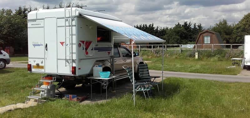 Chevy and Tischer Camper in England