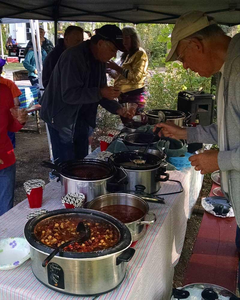 Chili cook off at Montana Glacier Rally