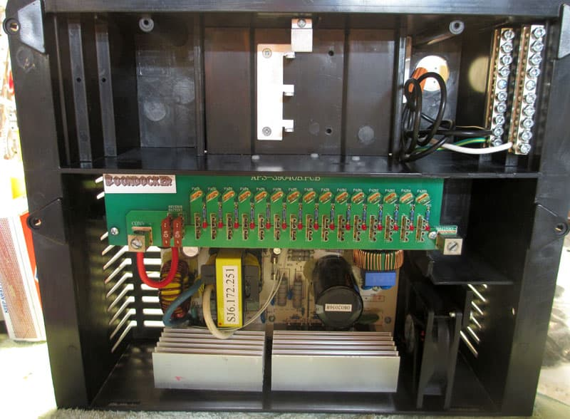Circuit breakers and incoming 120-volt line