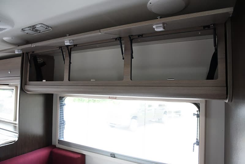Cirrus 820 dinette upper storage compartment