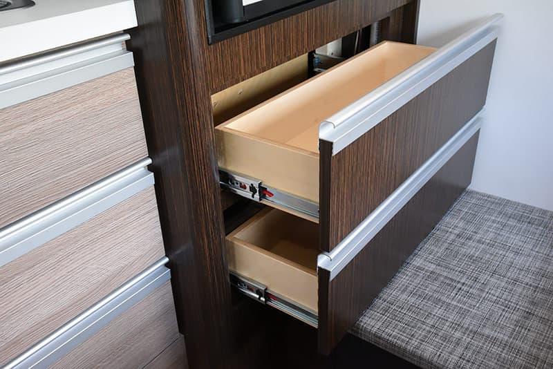 Cirrus 820 kitchen drawers under refrigerator
