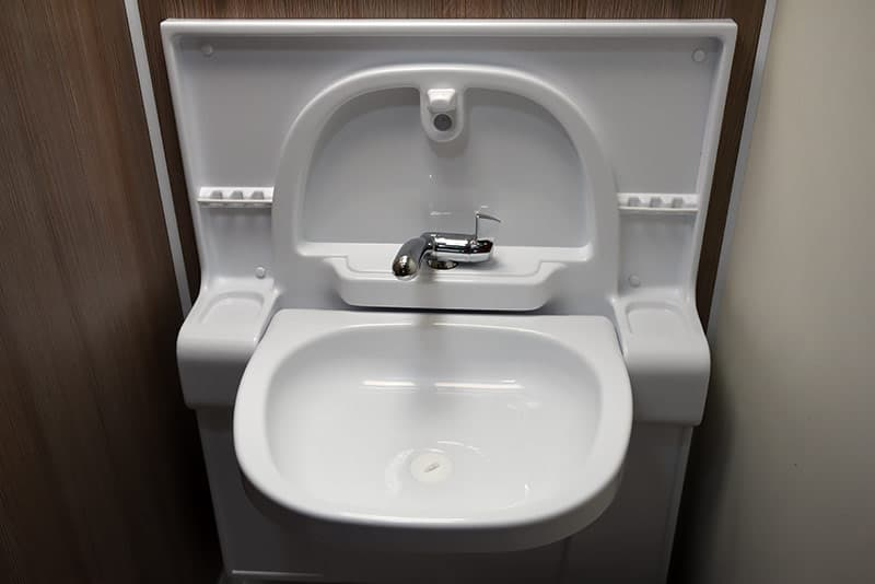 Cirrus 820 fold down sink in bathroom