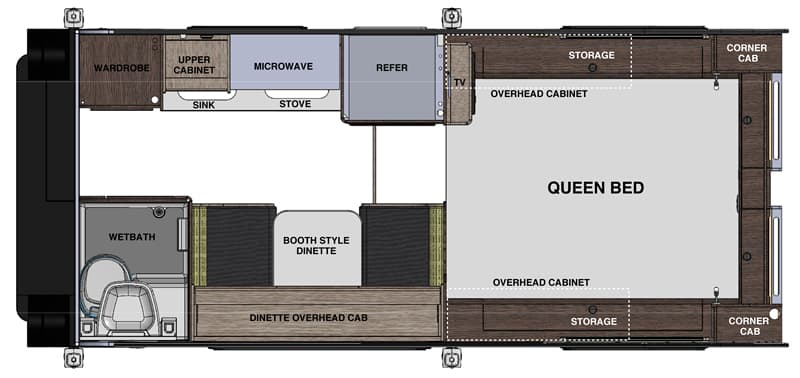 Cirrus 820 Camper floor plan