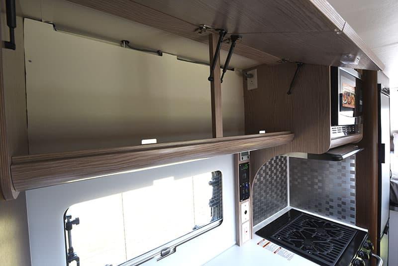 Cirrus 920 Kitchen Upper Cabinets Open