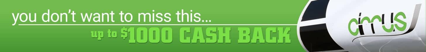 Cirrus Camper Cash Back Deal