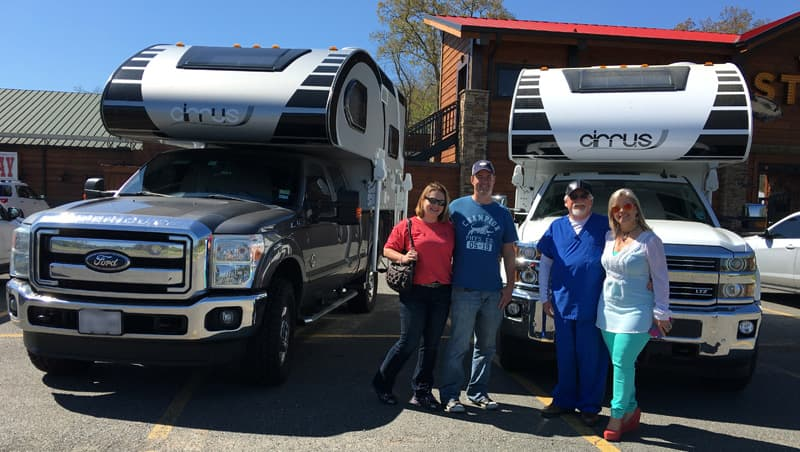 Meeting a Cirrus Camper on the road