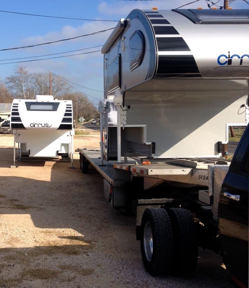Cirrus 800 Campers Arriving at Pine Tree RV