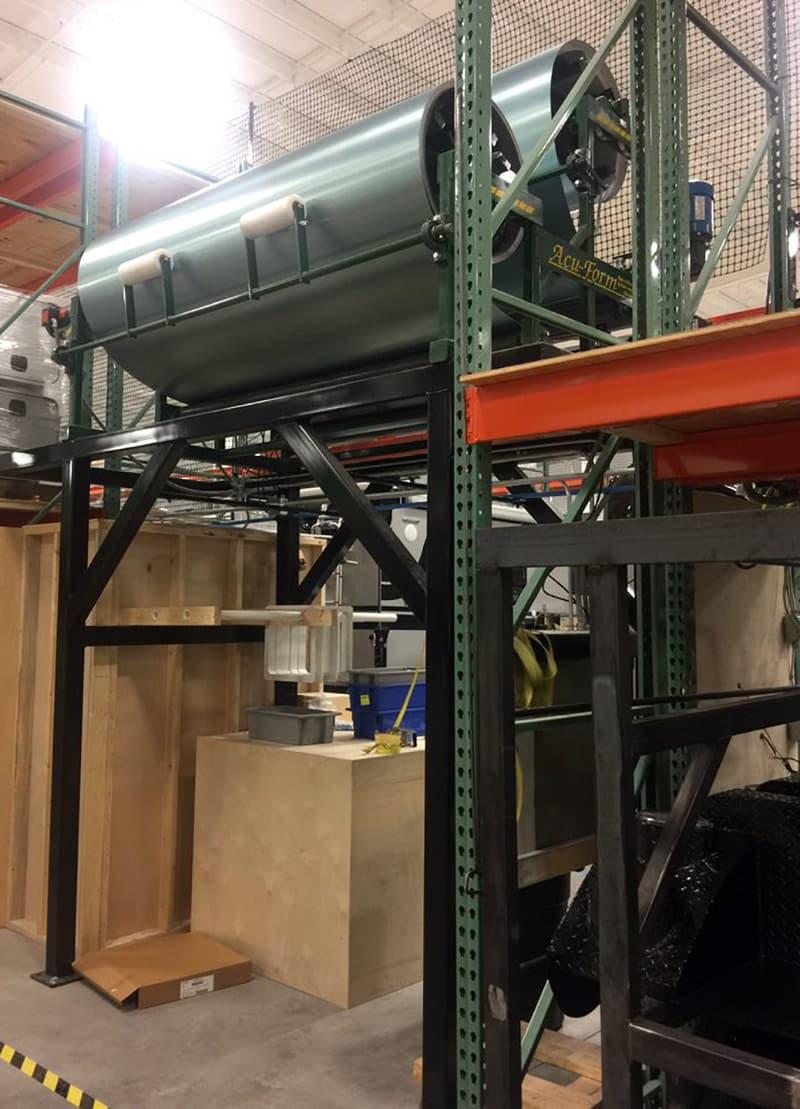 Aluminum roller for Cirrus Campers