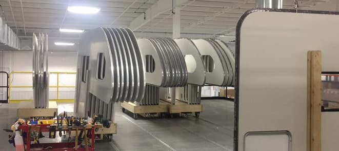 Sidewall production at Cirrus Campers