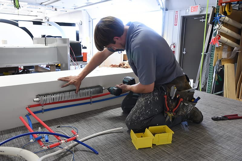 Cirrus Alde radiator installation