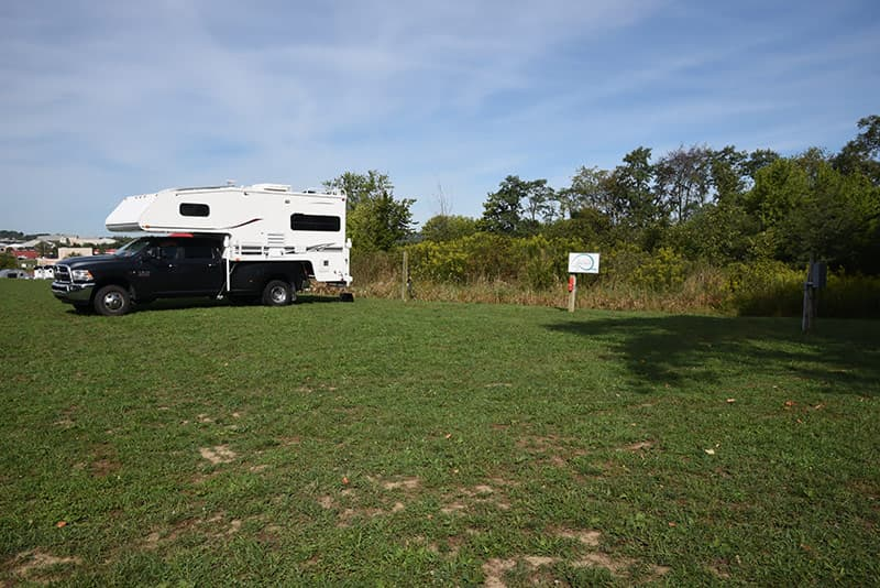Cirrus factory campground with 30-amp electric
