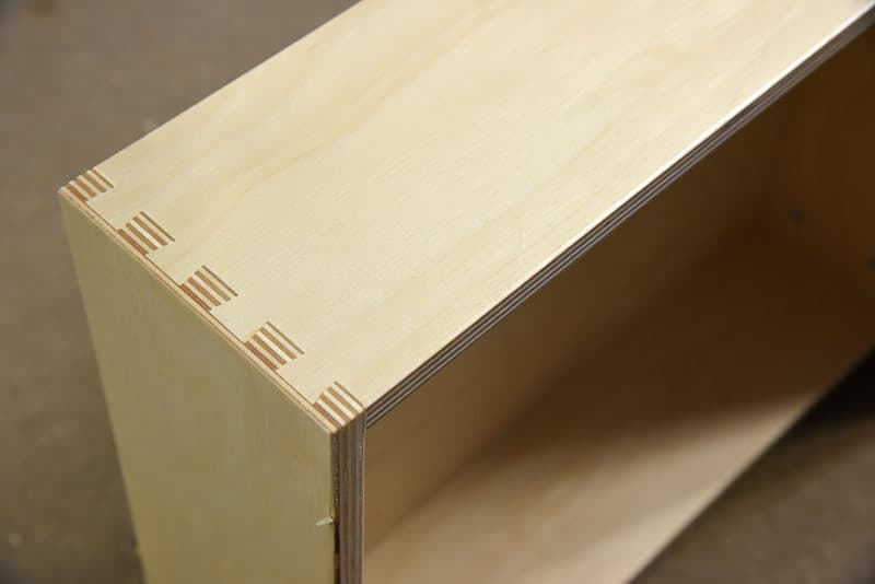 Dovetail joints of RV cabinetry