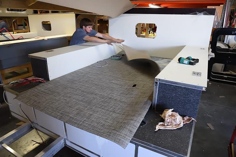 Cirrus camper flooring install