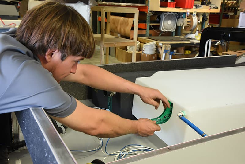 Cirrus campers install of SeeLevel monitors