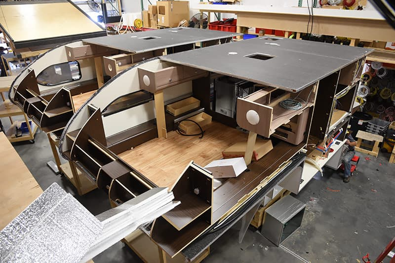Mid Build reveal on Cirrus production line