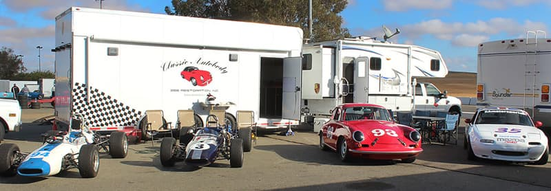 Classic Autobody Trailer With Classic Cars