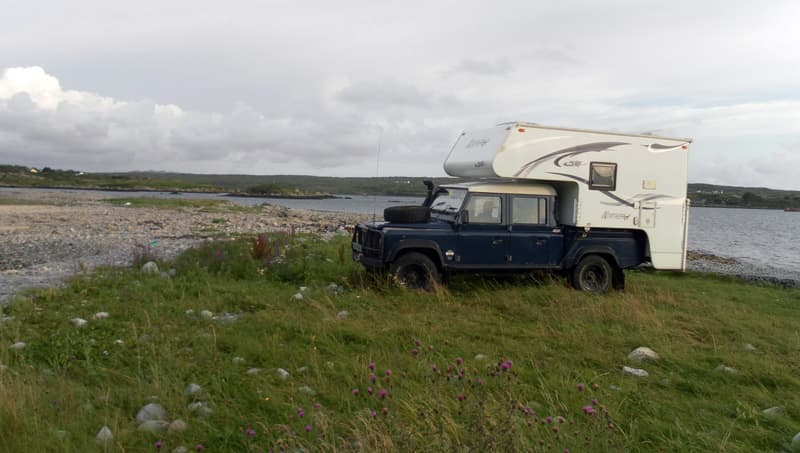 Clifden wild camp, Ireland