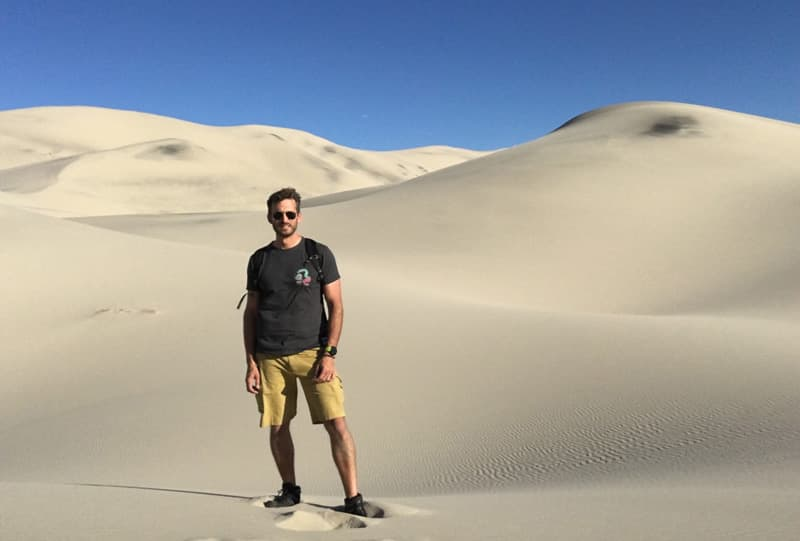 Climbing Sand Dunes, Death Valley