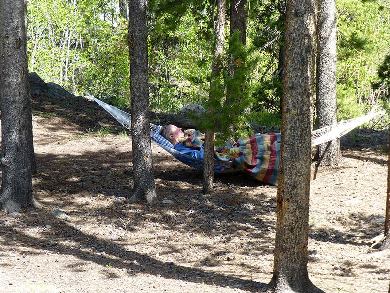 Hammock camping, Colorado Rockies