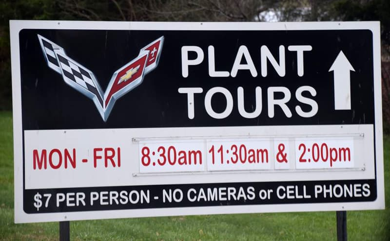 Corvette Plant Tour sign
