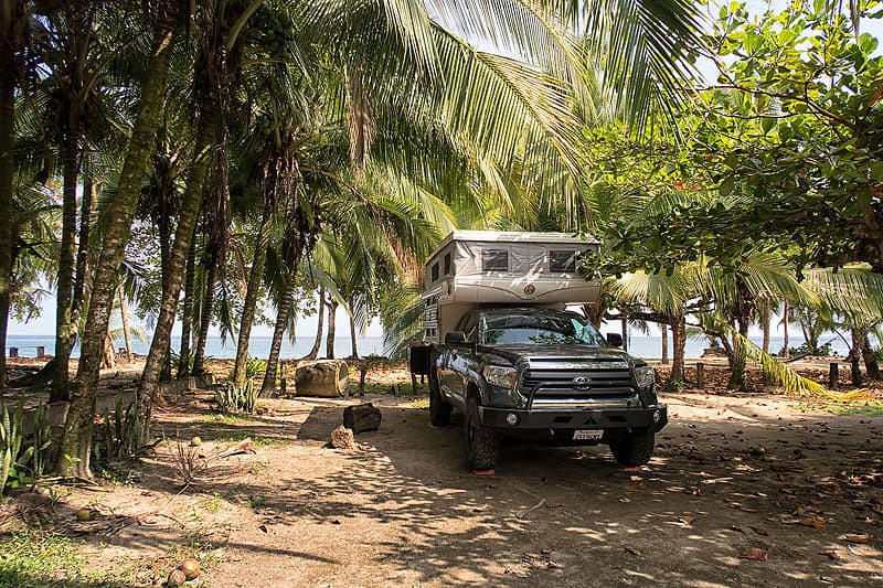 Costa-Rica-Beach camping in Punta Uva