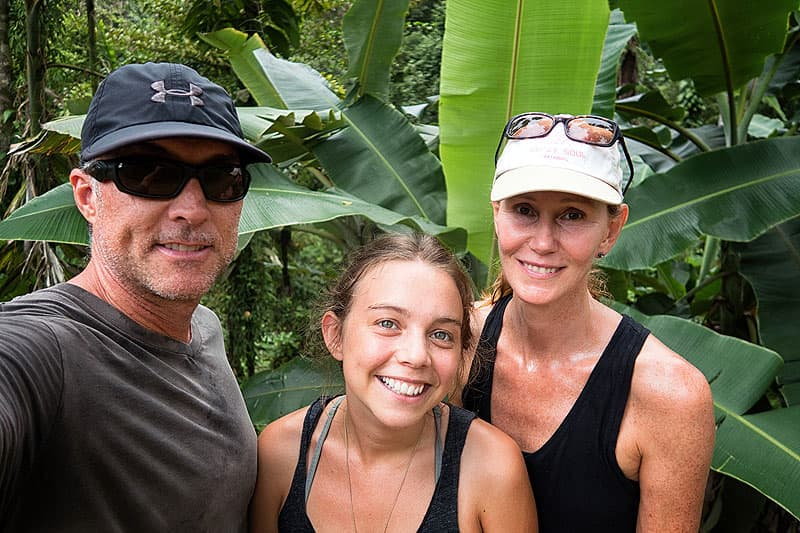 Hiking in the rain forest in Costa Rica