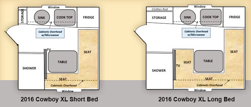 2016 capri cowboy xl camper for Capri floor plan