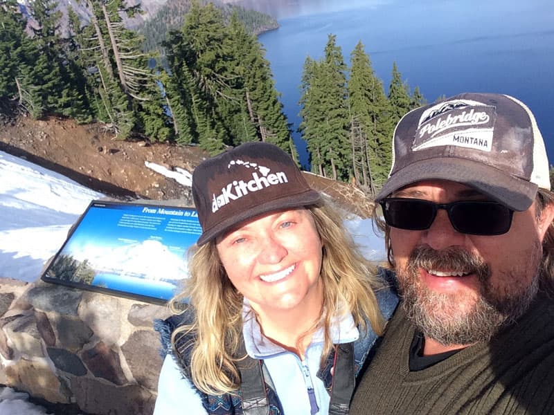 Cheryl and Trenton, Crater Lake, Oregon