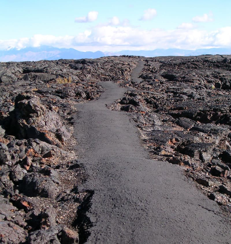 Craters of the Moon hike Idaho