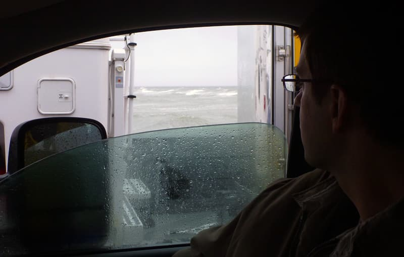 Crazy Ocracoke Ferry Ride In Rain