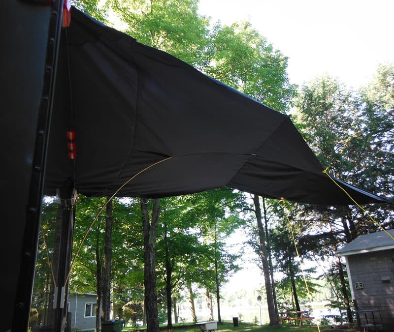 Awning keeps form