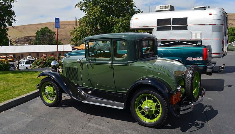 1930 Model A truck in Pendleton, Oregon